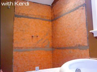 Shower With Schluter Kerdi Waterproofing Membrane