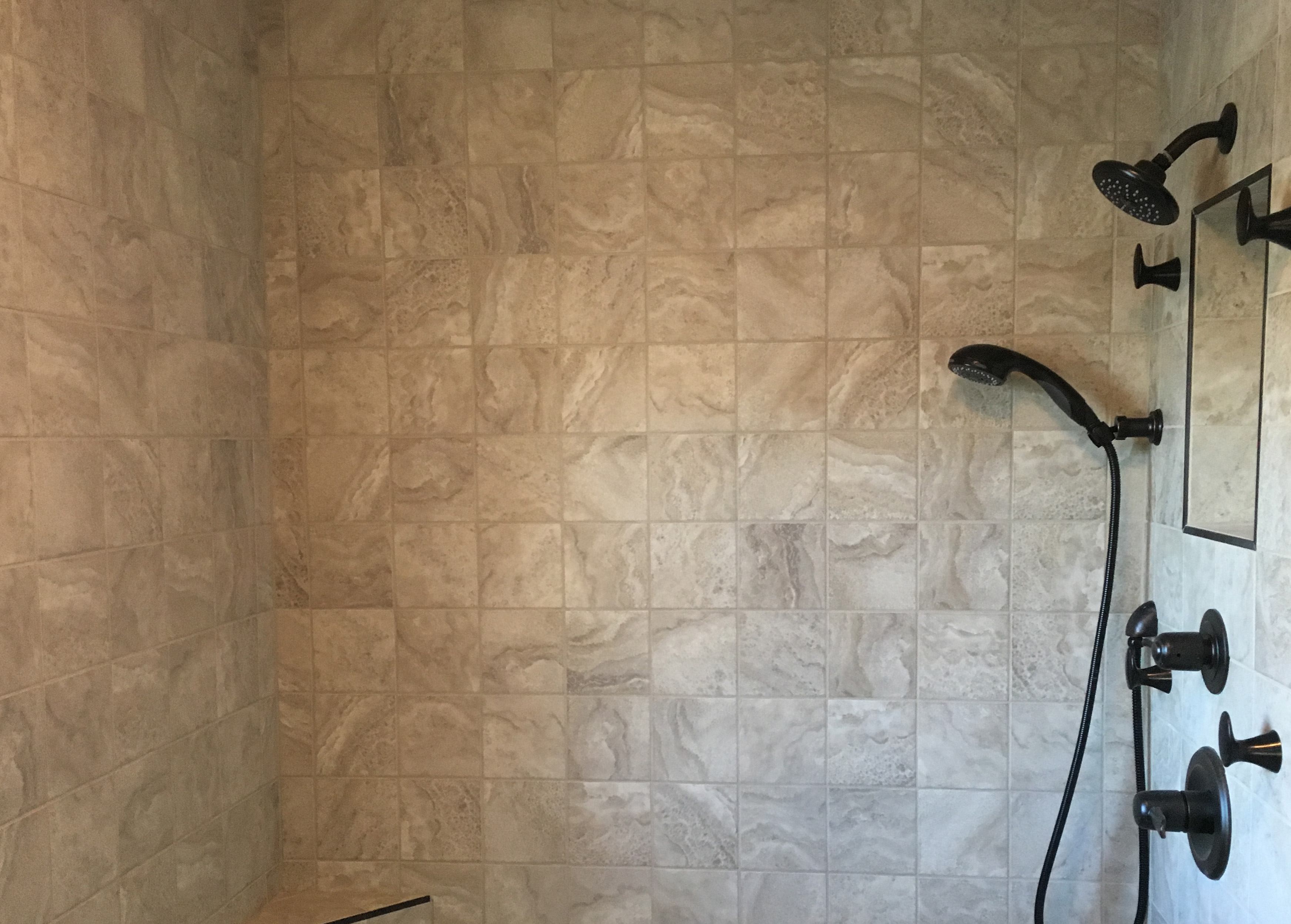 Tile work in bathrooms - His Work Is Clean Exact And Detailed And He Was Very Easy To Work With As We Started The Project Peter Was Easy To Communicate
