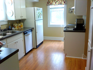 kitchen upgrade with laminate flooring
