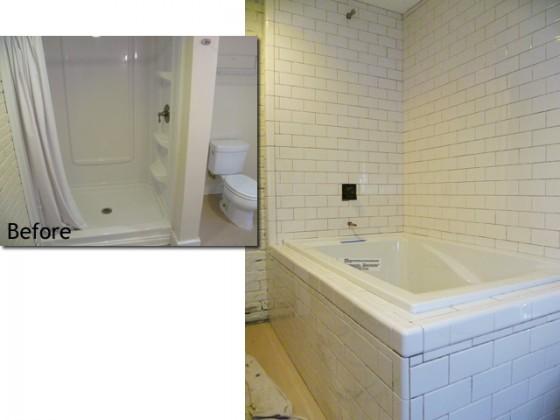 Bathtub bullnose tile joy studio design gallery best for Tiling around a bath