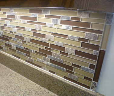 glass tile backsplash help ends pictures to pin on pinterest