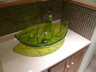 Amazing The First Thing That Catches Your Eye Is That Leaf Vessel Sink. Iu0027ll Admit,  I Was Impressed When I Pulled It Out Of The Box. Itu0027s Made By Magick Woods  And ...