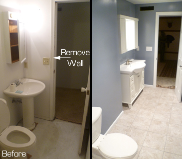 Inspired Remodeling Tile Bloomington Indiana Surrounding - Bathroom expansion before and after